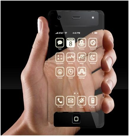 iPhone 5 – Transparent Phone – sortie Janvier 2011