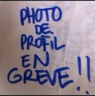 Photo de profil en grève...