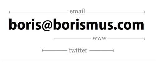 Minimal Business Card Design | Boris Smus