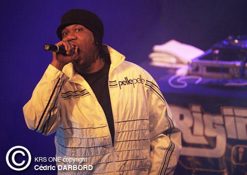 Krs One > photo C. Darbord sur Lyonhiphop.com