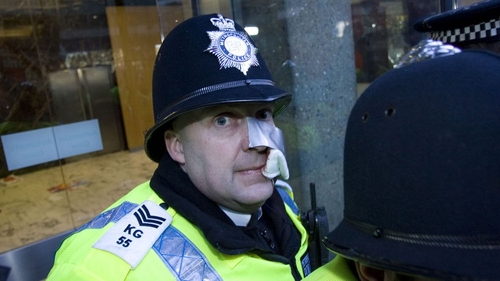 Fee protest in London turns violent