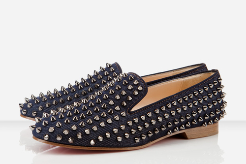 Christian Louboutin Denim Rollerball Spikes