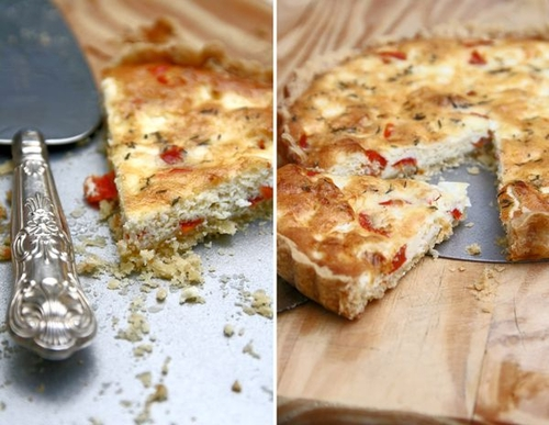 Feta, Peppadew and thyme quiche