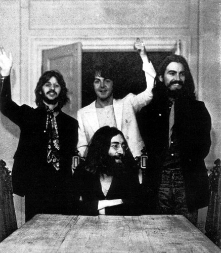 Last session photo The Beatles 1969