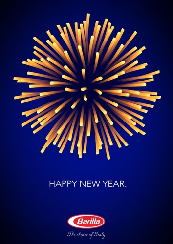 """Happy new year"" Print ads for Barilla Pasta by Y&R Italia"