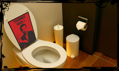 Sticker Dr House pour toilettes