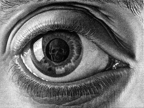 A Creative Universe » Illustration, Black and white, Eye, Skull, Drawing