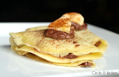 Crepes with Nutella, Mascarpone and Bananas