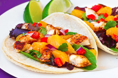 Fish Tacos with Mandarin-Orange Salsa Recipe