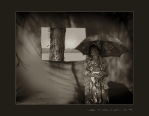 Willie Mae with umbrella #portrait