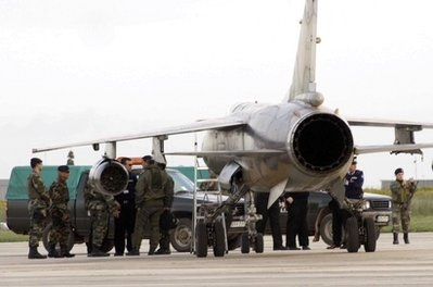 Two Libyan air force jets are guarded