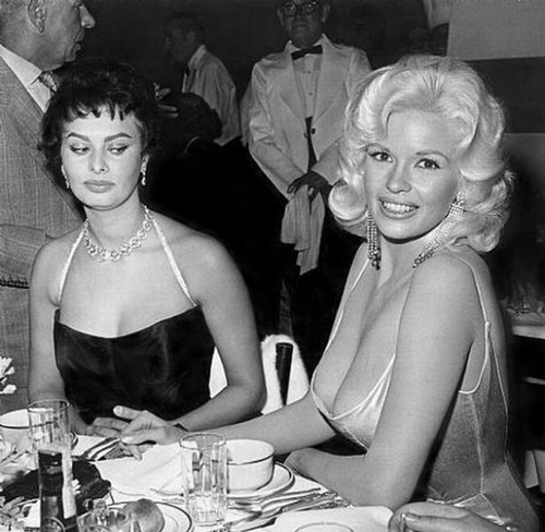 Sophia Loren and Jayne Mansfield | This Is Not Porn - Rare and beautiful celebrity photos