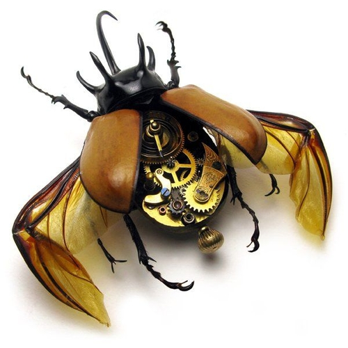 Really funny stuff - Awesome Steampunk Bugs by Mike Libby (26 pics)