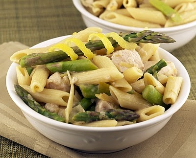 Penne with Chicken, Asparagus, and Lemon
