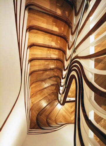 Sculptured Staircase by Alex Haw