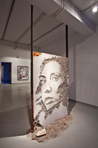 Vhils' works on the #street