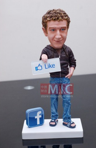 Figurine Mark Zuckerberg #censuré