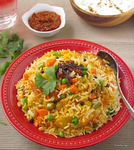 Vegetable Biryani | Sinfully Spicy #cuisine #food #recette