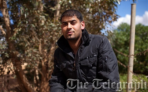 Younis Amruni, a local man who found the pilot of an American F-15 E Strike Eagle jet that crashed i