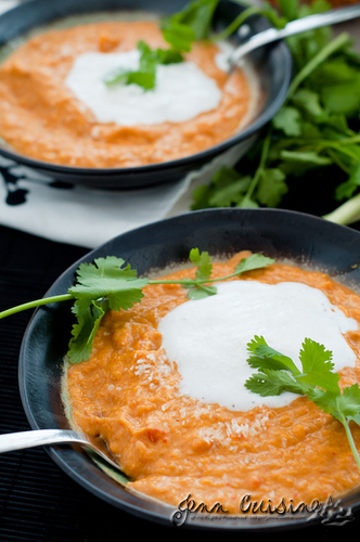 Sweet Potato Coconut Thai Curried Soup #cuisine #food #recette