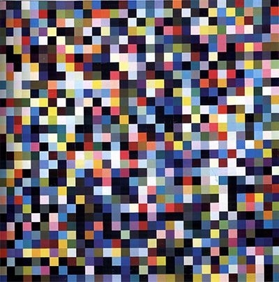 Gerhard Richter » Art » Paintings » Abstracts » 1024 Colours » 358-1