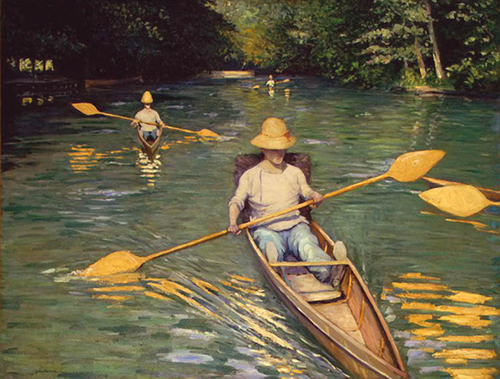 Gustave CAILLEBOTTE «rameurs»