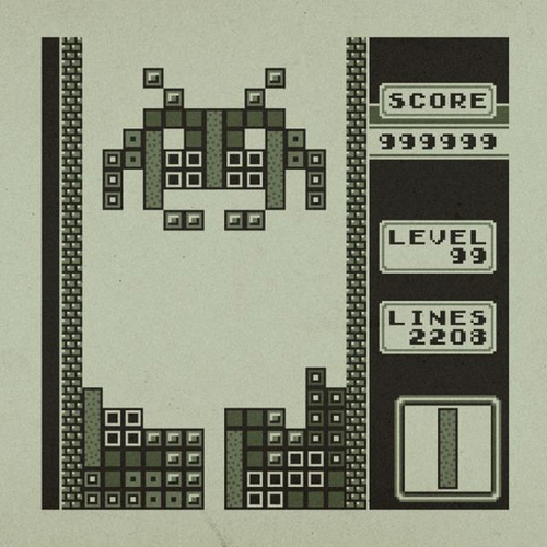 Tetris + Space Invaders