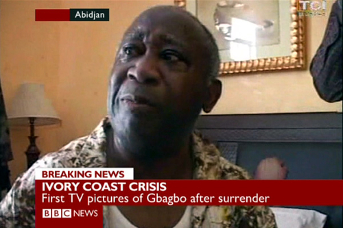 First pics of Ivorian leader Gbagbo following arrest
