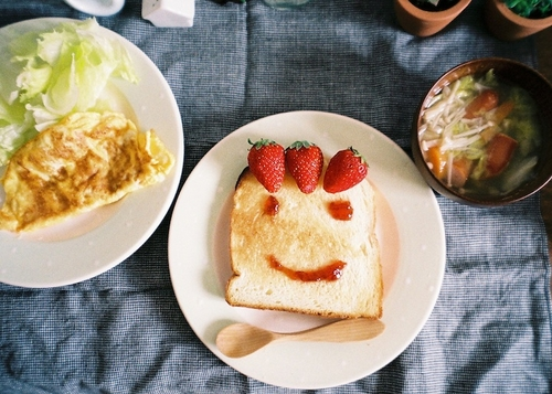 Funny Breakfast Food Faces
