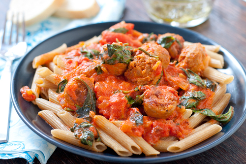 Vodka Cream Pasta with Italian Sausage #food #cuisine #recette