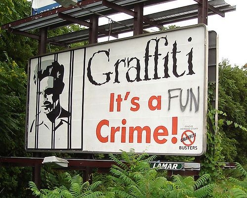Is graffiti a crime ?