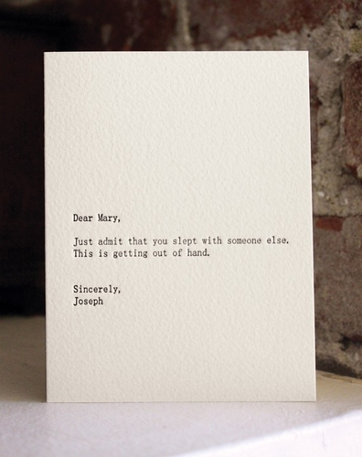 Dear …, Sincerely … | La boite verte
