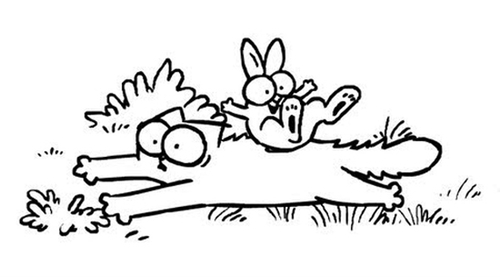 Easter bunny caught by Simon's cat in Hop It