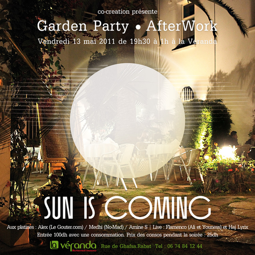 Sun is Coming | Ven13mai | Rabat - Maroc | Afterwork World, Soul, Jazz, Funk, Electro |