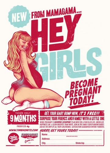Hey Girls, become pregnant today!