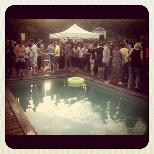 Rooftop swimming pool party  #nuitssonores2011