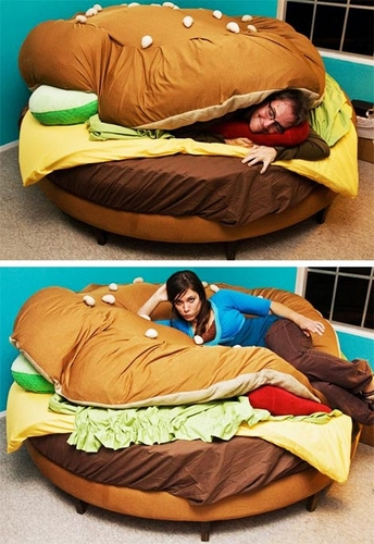 Hamburger Bed - wanelo