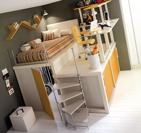 Lofted Space-Saving Furniture for Bedroom Interiors | Designs & Ideas on Dornob - wanelo