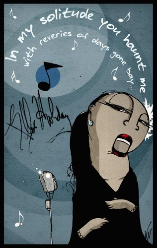 Billie Holiday Illustration de Kalo Varea