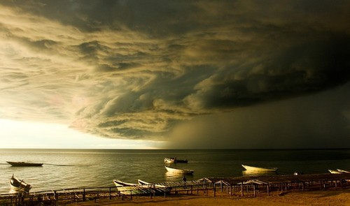 Twilight Tempest Lake Tanganyika, Tanzania #photo