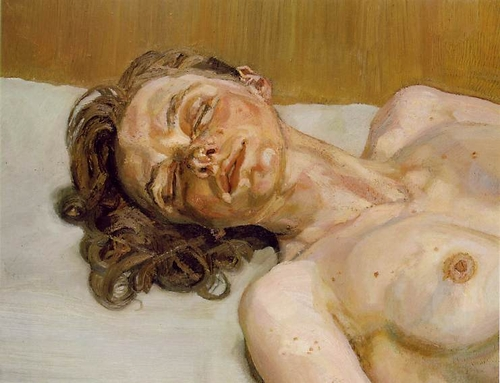 Girl with Closed Eyes - Peinture de Lucian Freud