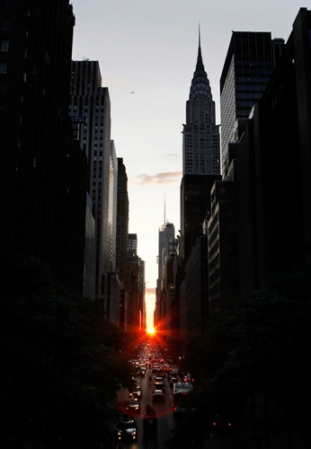 Manhattanhenge #Photo #Sunset