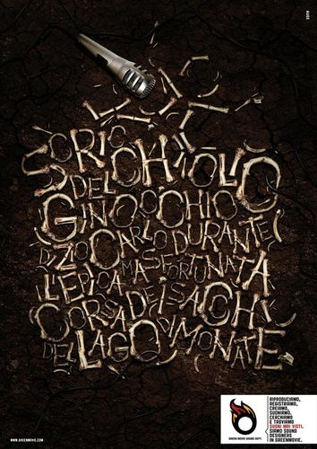45 Creative Typography Print Ads | GreenMovie Sound Dept.: Watch the sound, 2
