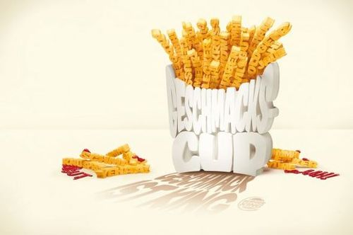 45 Creative Typography Print Ads | Burger King: Fries