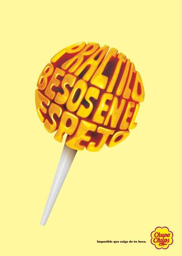 45 Creative Typography Print Ads | Chupa Chups: Lollypops, 3