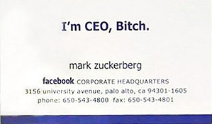 Les Cartes De Visite Mark Zuckerberg