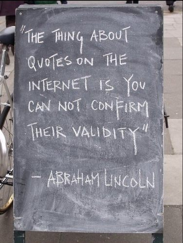 The Thing About Quotes on the Internet [Pic]