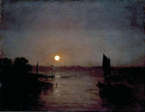 Clair de lune - Peinture de Joseph Mallord William Turner