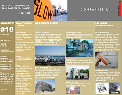 container.li: NEWSLETTER 10 CONTAINER.Li SEPTEMBRE 2011