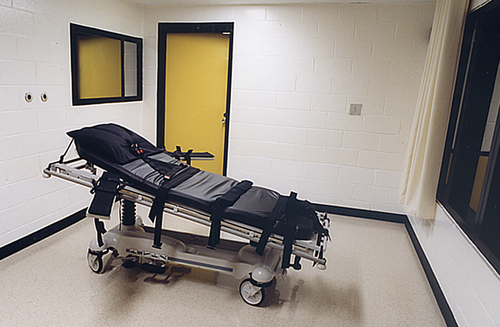 The lethal injection room - Abolish the death penalty